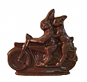 Dark Chocolate Two Bunnies on a Motorcycle