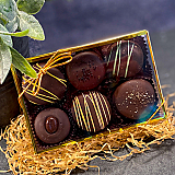 6 Piece Assorted Truffle Box of Chocolates