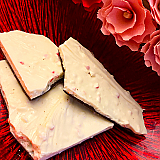 Handmade White Peppermint Heart Bark, 1/2lb