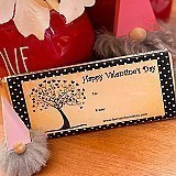 Personalized Valentine's Day Dark Chocolate Burst's Bar