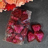 Mini Dark 72% Cocoa Burgundy Hearts