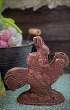 Gourmet Milk Chocolate Rabbit Riding a Rooster