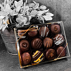12 Piece Assorted Truffle Box of Chocolates