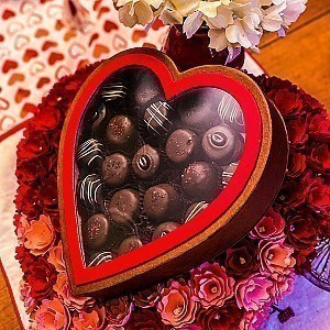 Large Assorted Heart Truffle Box