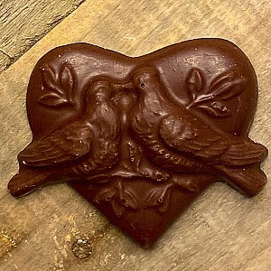 Milk Chocolate Love Birds Heart