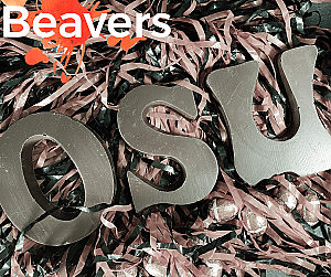 Dark Chocolate OSU Letters