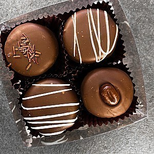 4 Piece Assorted Truffle Box of Chocolates